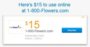 1800flowers.com PayPal promo